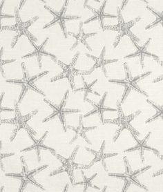 Premier Prints Sea Friends Coastal Gray Slub Fabric