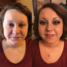 Before & after by me -Wedding makeup-