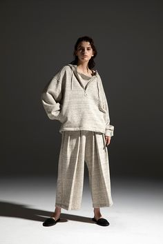 2020-21 A/W 013, Tight Tension Cotton Sweat Gore Hoodie   DRC-T05-011, Tight Tension Cotton Sweat Pleated Easy Pants   DRC-P90-011 21st, Normcore, Hoodies, Cotton, Collection, Pants, Fashion, Gowns, Moda