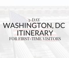 3-day Washington DC itinerary for first-time visitors. This travel guide shows you how to visit all the top attractions in the city on a budget.