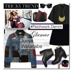 """Tricky Trend: Patchwork Denim"" by paligg ❤ liked on Polyvore featuring Junya Watanabe, Nanette Lepore, Monki, Paul Andrew and KOTUR"