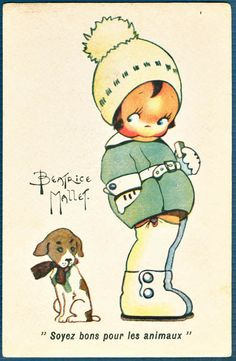 """Beatrice Mallet postcard  """"Be Kind to Animals"""""""
