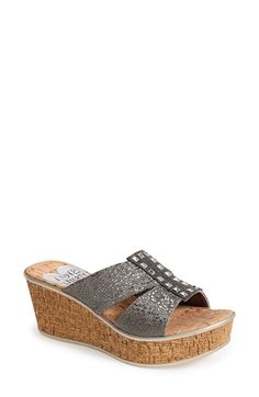 Women's Love and Liberty 'Nadia' Elastic Strap Slide