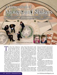 A Generation of Movers and Shakers The Homeschool Magazine - June 2013 - Page 122-123