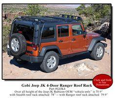 Gobi Jeep Wrangler JK Unlimited 4 Door Ranger Roof Rack & Free Ladder - GJJKR4 - Jeep Wrangler JK Roof Racks
