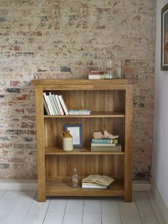 The Rustic solid oak small bookcase by Oak Furniture Land is a distressed, farmhouse-style piece of hardwood furniture made entirely from high quality oak. Solid Oak Bookcase, Small Bookcase, Modern Bookcase, Small Shelves, Bookcases, Dark Wood Furniture, Oak Furniture Land, Boho Living Room, Living Room Decor