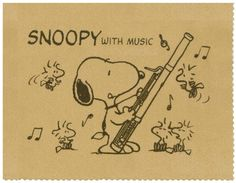 snoopy playing the bassoon Basson, Hurdy Gurdy, Lucky Luke, Art Prompts, French Horn, Snoopy And Woodstock, Clarinet, Teaching Music, Amazing Adventures