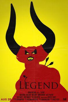 Legend Retro Minimalist Poster by thenewmessiah on Etsy