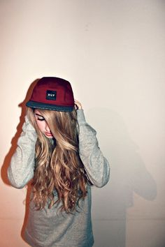 Huf hat and hair