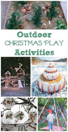 Outdoor nature activities kids will enjoy for Christmas - play ideas, STEM activities and more easy holiday fun!