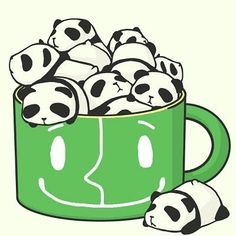 Chibi Panda - Page 1 of 14 Art Kawaii, Kawaii Chibi, Kawaii Cute, Anime Chibi, Pet Anime, Anime Animals, Cute Animals, Panda Love, Cute Panda
