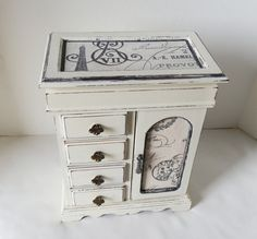 Upcycled Paris Theme Ladies Jewelry Box by TreasuresbyMarylou, $95.00