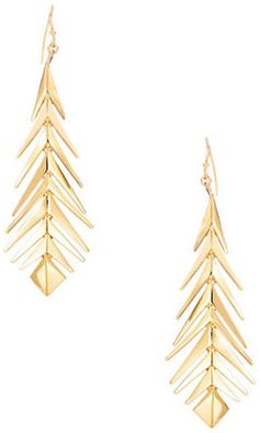 TRINA TURK Fishbone Drop Earrings