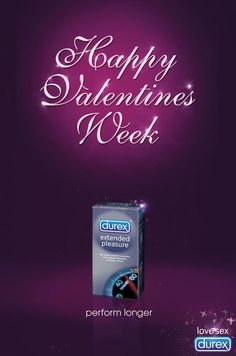 Durex Happy Valentines Week - The Inspiration Room Funny Advertising, Funny Ads, Creative Advertising, Print Advertising, Print Ads, Marketing And Advertising, Print Poster, Viral Marketing, Guerilla Marketing