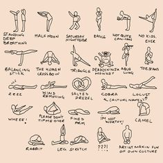 Bikram Yoga Postures Picture Spoof By Anandb