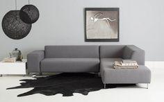 hoekbank Dess - strak design grijs - #Goossens wonen & slapen