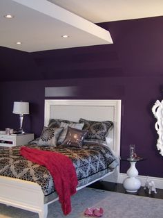 Hollywood Glamour Style Purple Bedroom