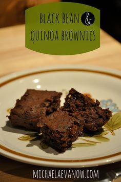 black bean + quinoa mousse brownies (gluten free)