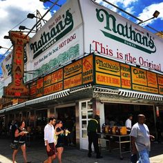 The Famous Nathan's Hot Dog - Coney Island, New York #newyorkcityinspired #instagram