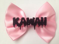 Pastel Goth Hair Bow Dripping Melting Kawaii Pastel by EllenJaimie