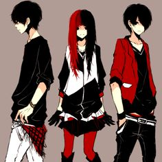 The Red, Black, & White Siblings. <3