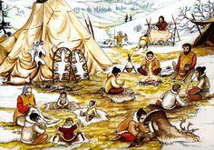 Cro-Magnon Camp by Florent Rivère