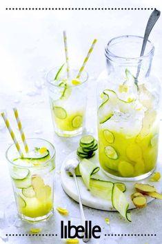 Cocktail Drinks, Fun Drinks, Cocktails, Infused Water Recipes, Homemade Ice, Iced Tea, Detox Drinks, Lemonade, Food Porn