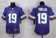 Men's Minnesota Vikings #19 Adam Thielen 2013 Nike Purple Elite Jersey