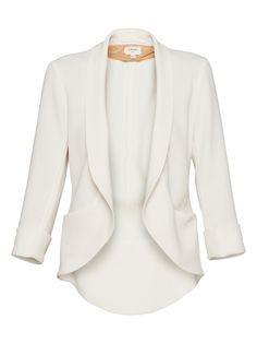 Light & airy feminine blazer, would also love it in rose- Wilfred Shrunken Chevalier Blazer in Birch