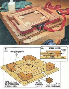 Shopmade Picture Frame Clamping Jig - Clamp and Clamping  Jigs and Fixtures | WoodArchivist.com