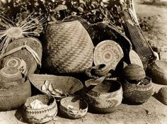 Karuk basket weaving , Klamath and Salmon River areas.