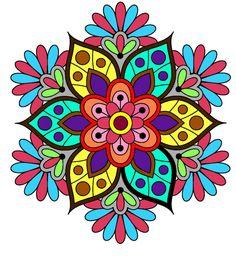 Mandala Drawing, Mandala Painting, Dot Painting, Mandala Dots, Flower Mandala, Flower Pattern Drawing, Stitch Games, Rangoli Patterns, Funky Painted Furniture