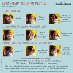 Tanda-tanda Bayi Ingin Menyusu -- oleh @housniati  #poster #ASI  >>