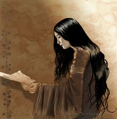 """..But the Queen Arwen said, """"A gift I will give you. I am the daughter of Elrond, but I shall not go with him now when he departs for the Havens; for mine is the choice of Luthien, and as she so have I chosen, both the sweet and the bitter. But in my stead you shall go, Ring-bearer, when the time comes, and if you desire it."""""""