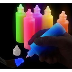 Super Glow in the Dark Paint Tubes (6 Pack)