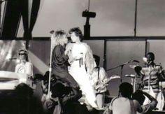 Tina Turner with Mick Jagger 1985