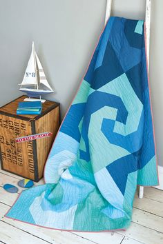 Nautical but nice waves quilt by Stephanie Kendron and Joanna Marsh inside issue 36 of Love Patchwork & Quilting magazine Get set for sun with a slogan mini quilt by Nicole Daksiewicz in issue 36 of Love Patchwork & Quilting magazine http://www.lovepatchworkandquilting.com/magazine/issue-36-sale