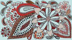 Aida #flowers #drawing #pattern