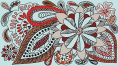 Aida #flowers #drawing #pattern