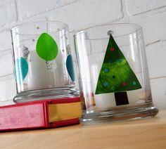 Arthur Christmas and holiday glass clings. - Mod Podge Rocks