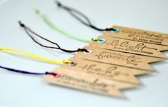Kraft Paper Tags with Wax Cotton Cord x 10 by DobleEle on Etsy, $5.00
