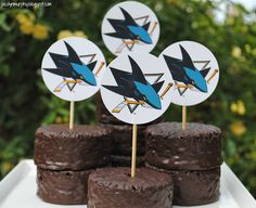 """""""puck cakes""""  hockey party  Opening the Ding Dong box and taking them out of the foil wrap  left me exhausted!"""
