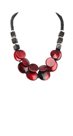 Alisha D Trendy Smooth Link Resin Necklace Made in Italy