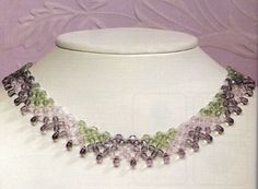 Necklace of crystal beads (Translated instructions, diagram)