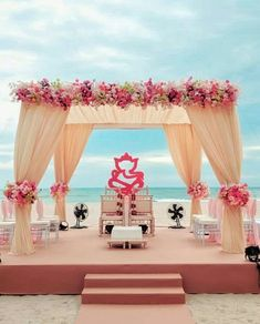 When the ocean is your backdrop! We do destination weddings! When the ocean is your backdrop! We do destination weddings! Indian Beach Wedding, Indian Destination Wedding, Outdoor Indian Wedding, Exotic Wedding, Indian Wedding Ceremony, Wedding Mandap, Destination Weddings, Wedding Venues, Desi Wedding Decor