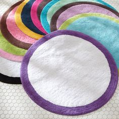 can't wait to make paths and patterns with these spot-on bath mats