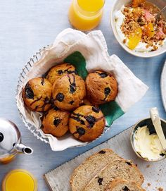 blueberry-and-banana-muffins