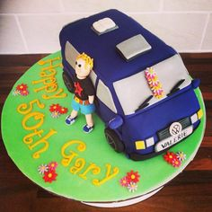 Camper Van Cake, Birthday Surprises For Him, 6th Birthday Cakes, Vw T5, Novelty Cakes, Baby Cakes, Cute Cakes, Celebration Cakes, Campervan