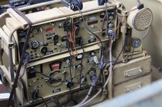 A Sdkfz 250 interior photo showing the type and configuration of Fug radio equipment carried on board