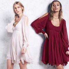 Women's Open Shoulder Scoop Back Asymmetric Chiffon Dress - OASAP.com